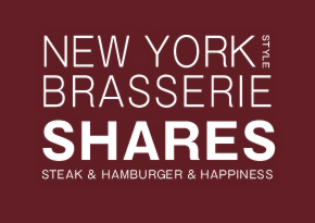 NEW YORK STYLE BRASSERIE SHARES STEAK & HAMBURGER & HAPPINESS